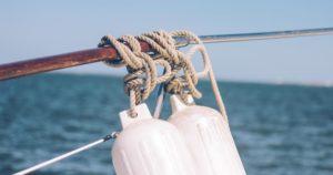 Sea in Blaine, Washington on a sailboat