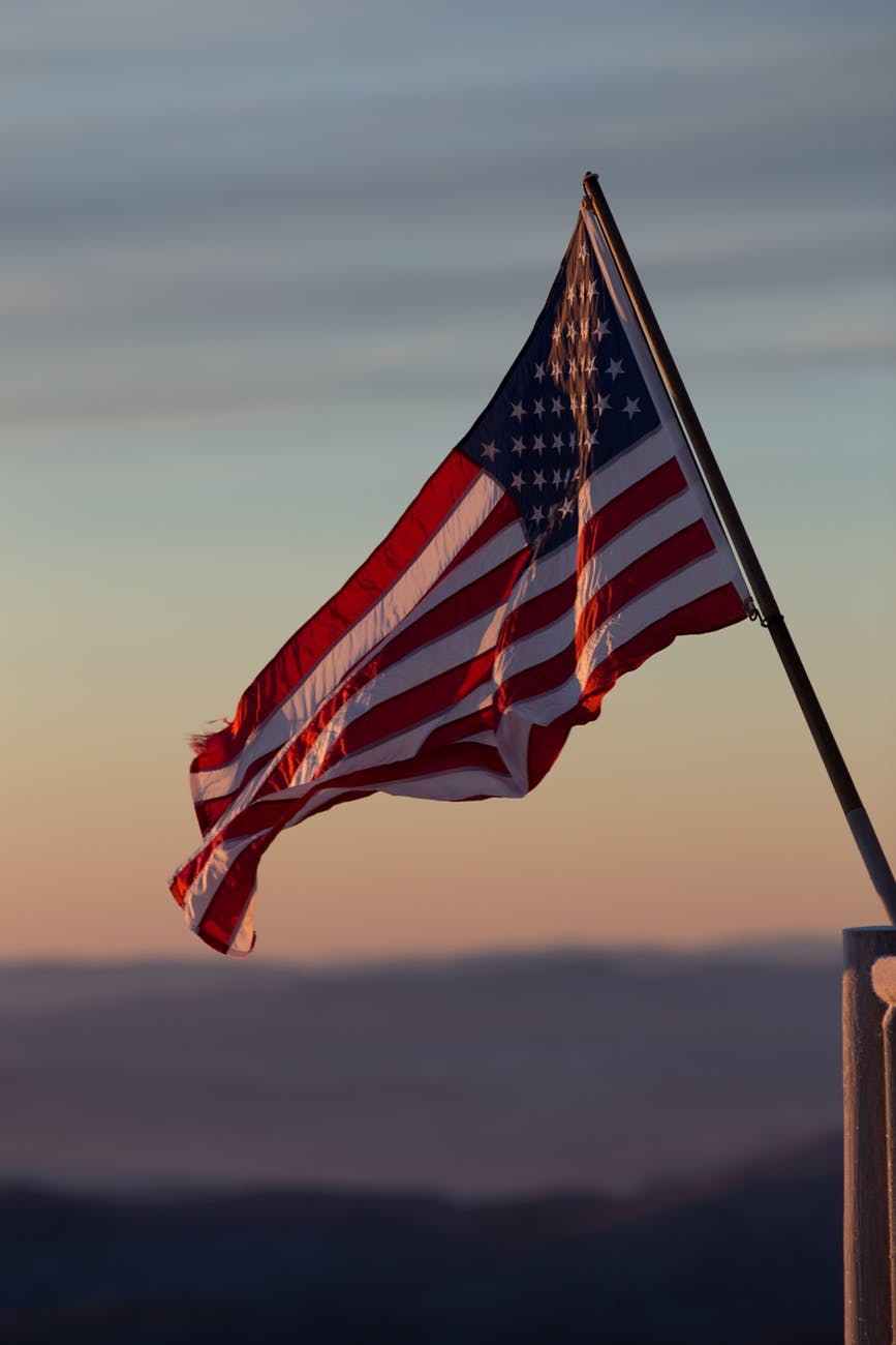 Flag raised in Blaine, Washington