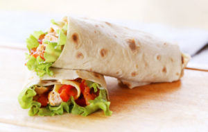 Burrito at Bordertown Grill in Blaine, WA