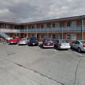 Motel International parking lot