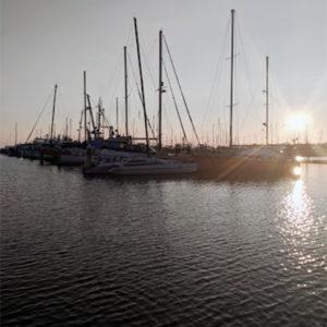 Sunset at Blaine's Marina