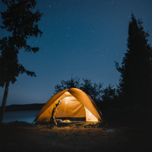 camping under the stars in Blaine, WA