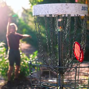 disc golfing in Blaine, Washington