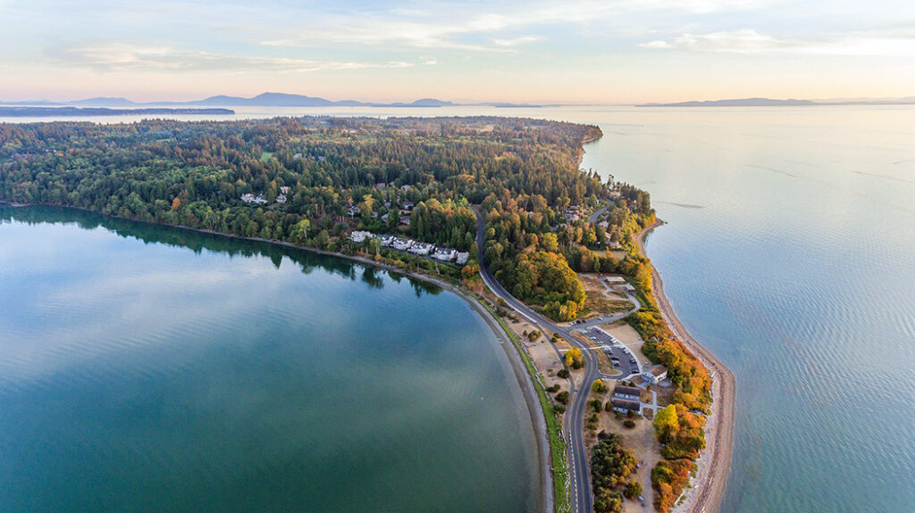 semiahmoo with drayton harbor aerial view