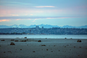 Semiahmoo marina with Canada in the background