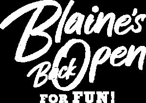 Blaine open white fun