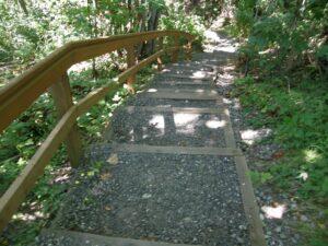 walk trail to Blaine's park