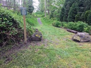 Trail to the park in blaine