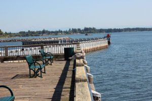 Jorgensen Pier seating fishing