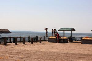 kids enjoying the sun on Jorgensen Pier