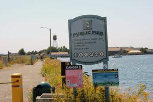 public pier in Blaine Sign