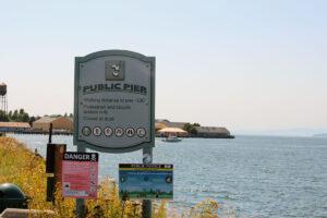 public pier in Blaine Signage