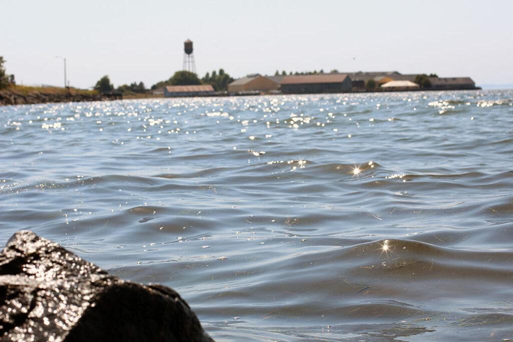 Sea at the Blaine's Marina