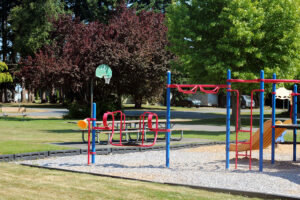 Salishan Park playground with kids playing