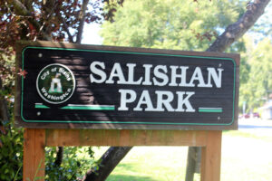 Salishan Park playground signage