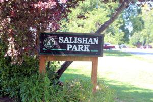 Salishan Park playground city of blaine sign