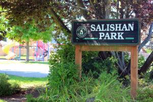 city of blaine Salishan Park playground signage