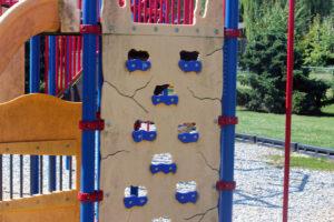 rockwall at Kilmer Park playground in blaine