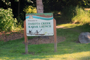 Dakota Creek Kayak Launch signage