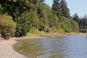 Dakota Creek Kayak Launch with waves