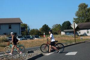 biking at semiahmoo park