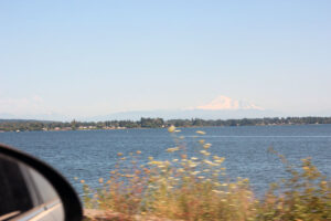 Mt. Baker landscape from Semiahmoo Spit by Drayton Harbor