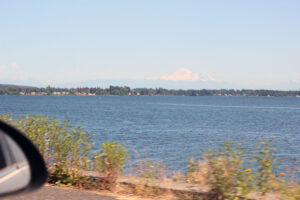 Mt. Baker panorama at Semiahmoo Spit by Drayton Harbor