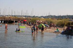 Swim at Semiahmoo Spit in Blaine, Washington