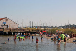Semiahmoo Spit swimming area