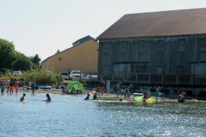 Swimmers in Semiahmoo Blaine