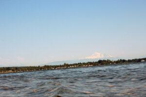 Waves next to Semiahmoo Spit at Drayton Harbor