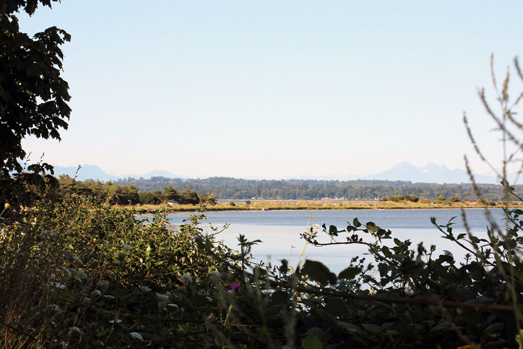 Drayton Harbor trail view of Semiahmoo Spit