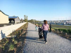 family enjoying a walk at the new Semiahmoo Trail