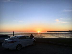 people enjoying a sunset in Blaine
