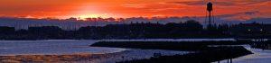 Blaine Marina Sunset over Semiahmoo Resort