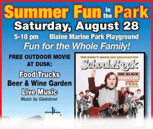 """Summer Fun in the Park with """"School of Rock"""" Outdoor Theater in Blaine Marine Park"""