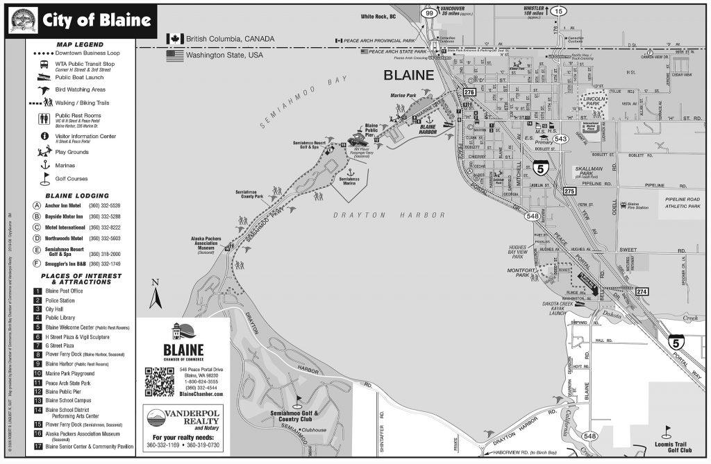 City of Blaine WA Tear Map