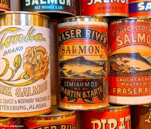 Cannery labels for products of Alaska Packers Association in Blaine, WA