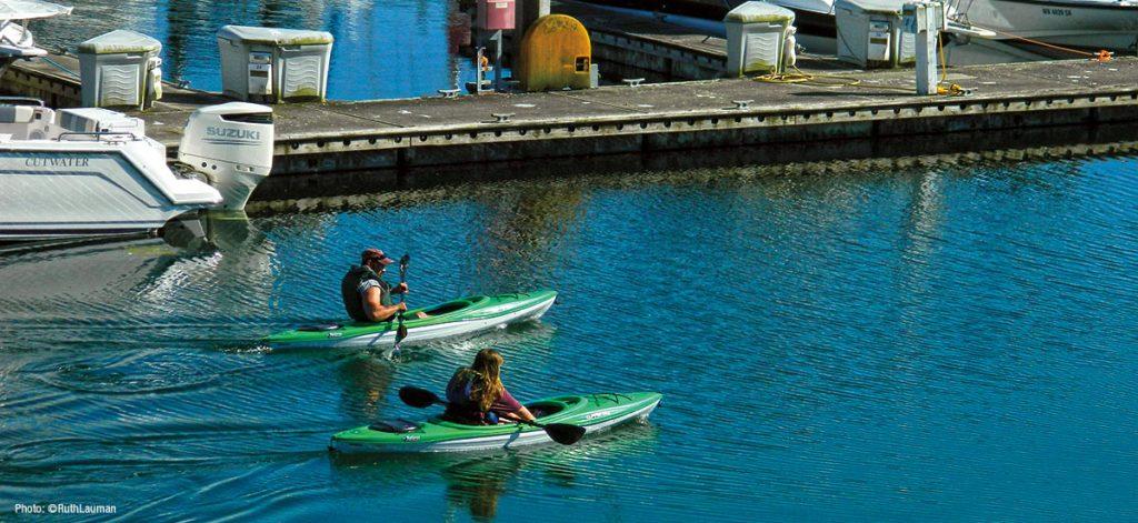 Kayaking Blaine Marina in Blaine WA