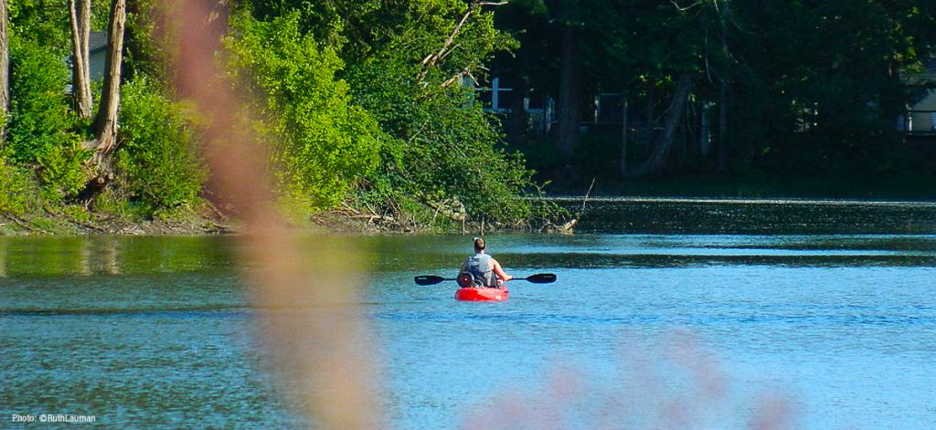 Kayaking California Creek in Blaine WA