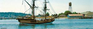 Tall Ship Lady Washington sailing by Semiahmoo Resort-Golf-Spa