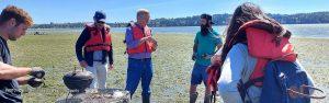 Rick Steves with Drayton Harbor Oyster Company in Blaine WA